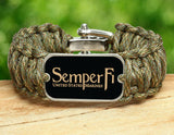 Wide Survival Bracelet™ - Gold Semper Fi