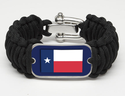 WIDE Survival Bracelet™- Texas Flag