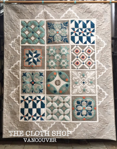 Block of the month theclothshop pieced and applique patterns featuring 100 cotton grunge fabric by basic grey for moda invoke a feeling of charming old world gumiabroncs Image collections
