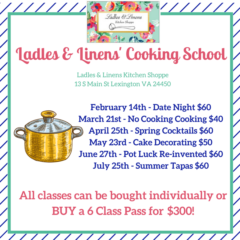 Cooking School Announced!