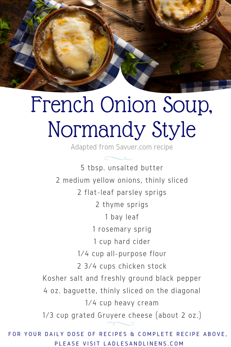 NORMANDY STYLE FRENCH ONION