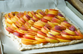 Basil Cream & Peach Tart