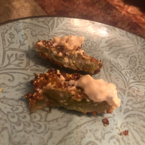 fried green tomatoes with topping