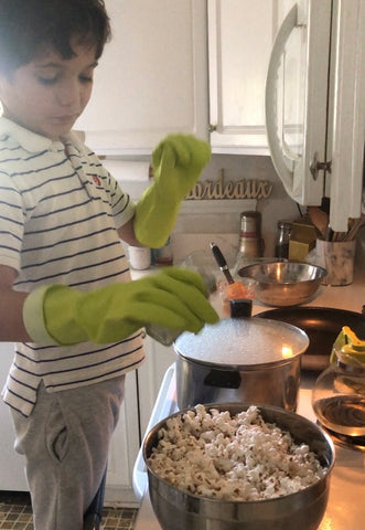 child cooking in the kitchen