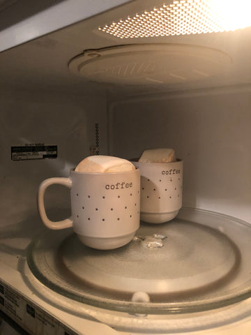 marshmallows in the microwave