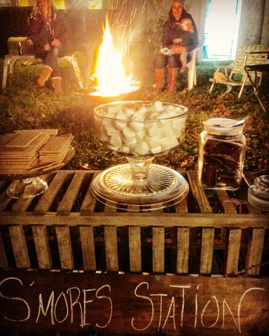 gourmet s'mores station
