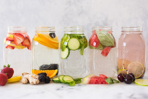 fruit infused spa water