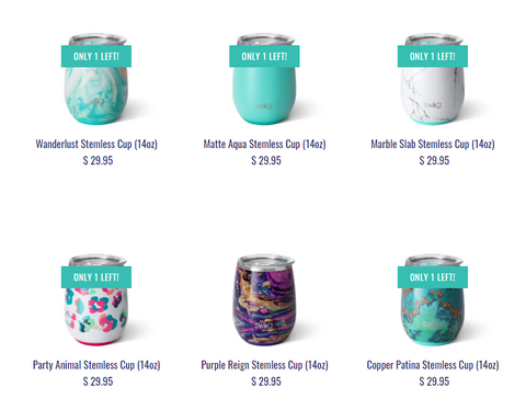 stemless travel cups