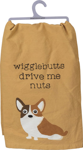 cute funny dog towel wigglebutts