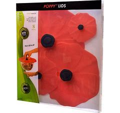 Silicone Poppy Lids - Set of 4