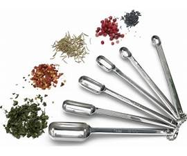 Stainless Steel Measuring Spoons - set of 6