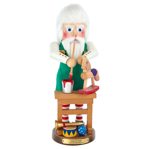Kurt Adler 17-Inch Steinbach North Pole Santa Toymaker Nutcracker Signed