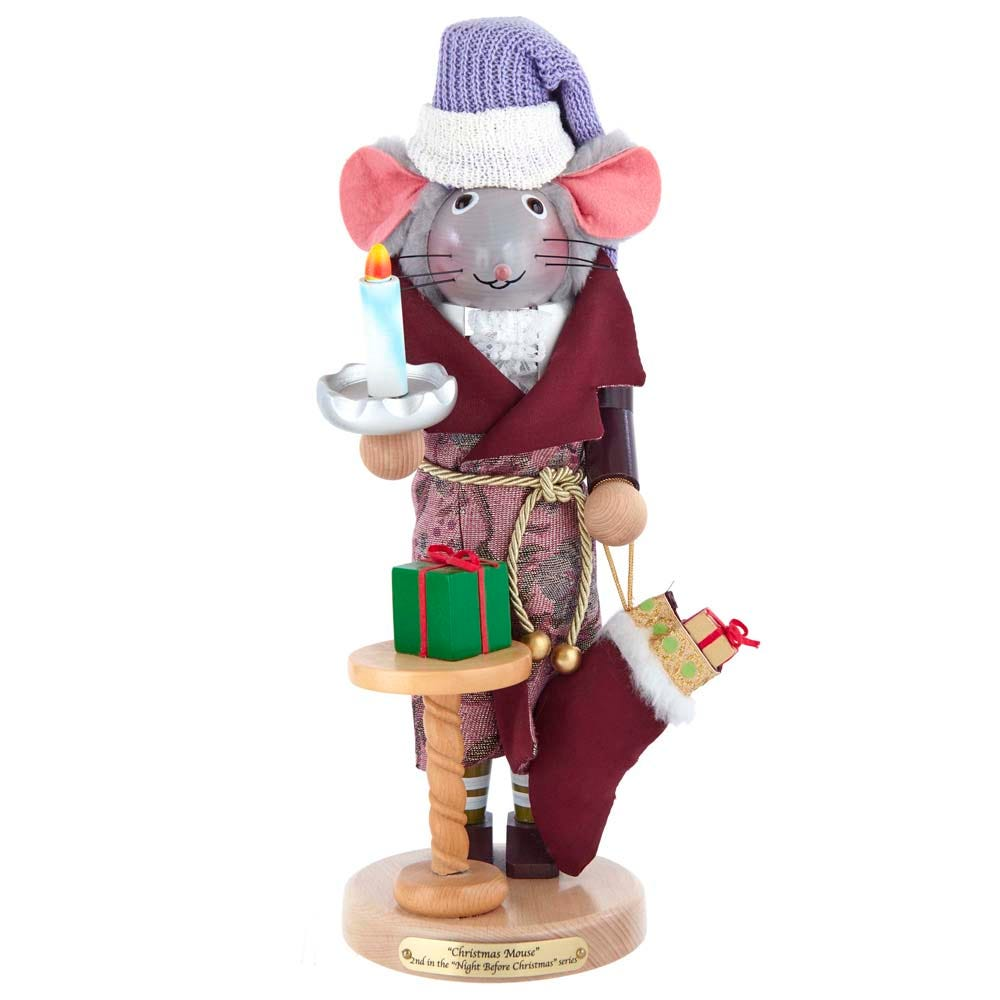 Kurt Adler Steinbach 16-Inch The Night Before Christmas Mouse Nutcracker Signed