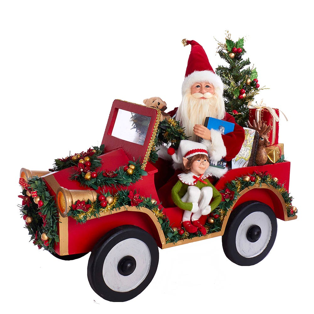 Kurt Adler 22-Inch Santa Driving Car