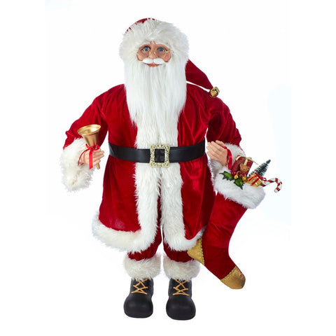 Kurt Adler 36-inch Kringle Klaus Red Standing Santa