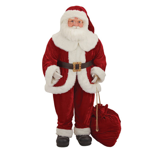 Kurt Adler 68-Inch Kringle Klaus Santa with Bag