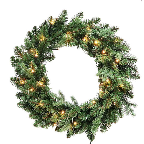 Kurt Adler 24-Inch Battery-Operated Warm White LED Jackson Wreath