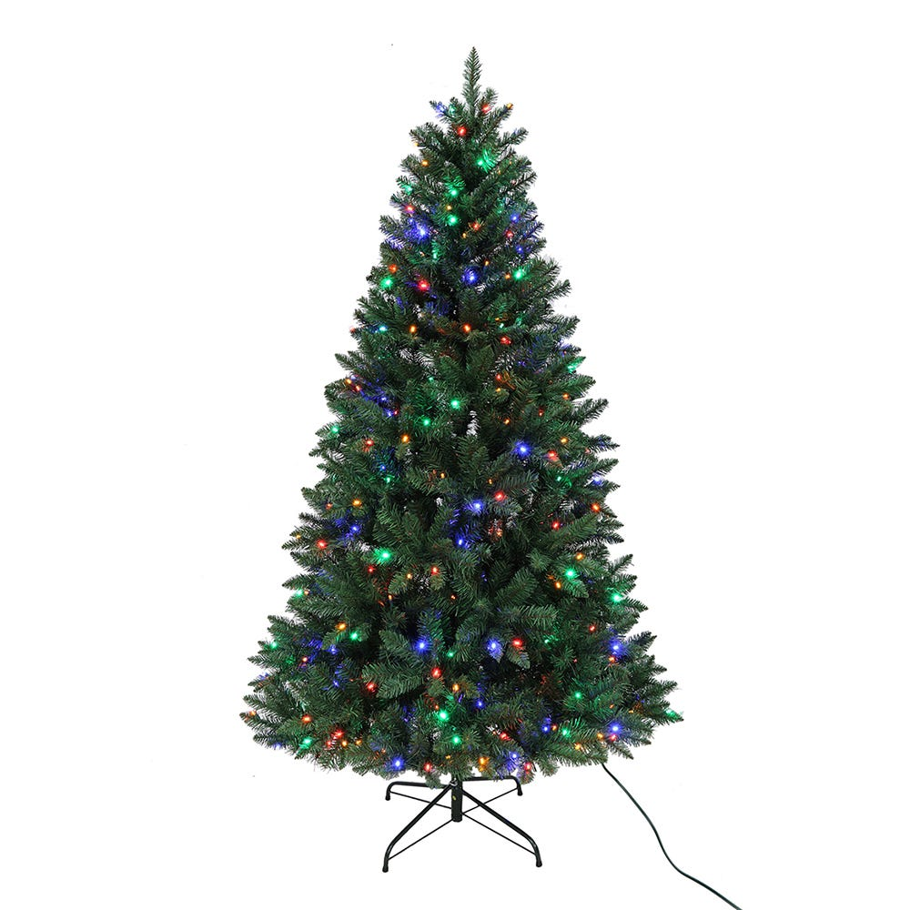 Kurt Adler 7-Foot Multi LED Pre-Lit Pine Tree