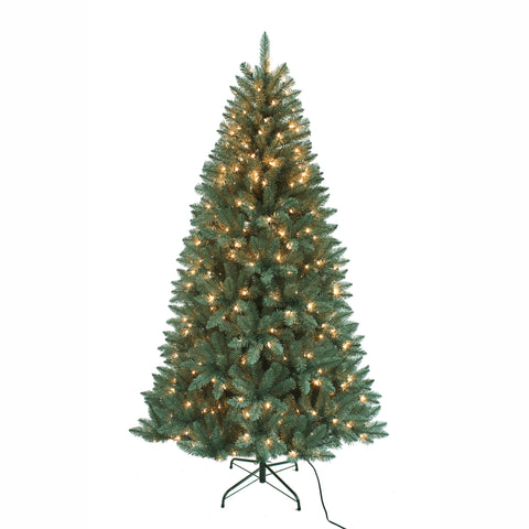 Kurt Adler 7-Foot Pre-Lit Pine Tree with Clear Lights