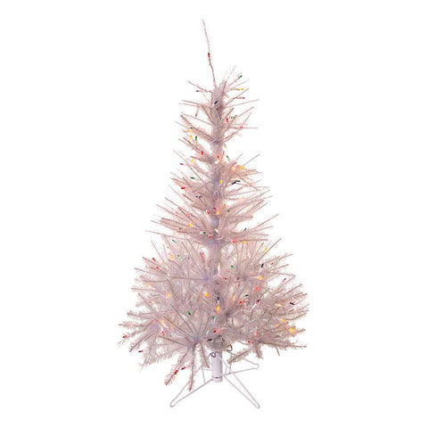 Kurt Adler 4.5-Foot Pre-Lit Glisten Pine Tree and Multi-Color Lights