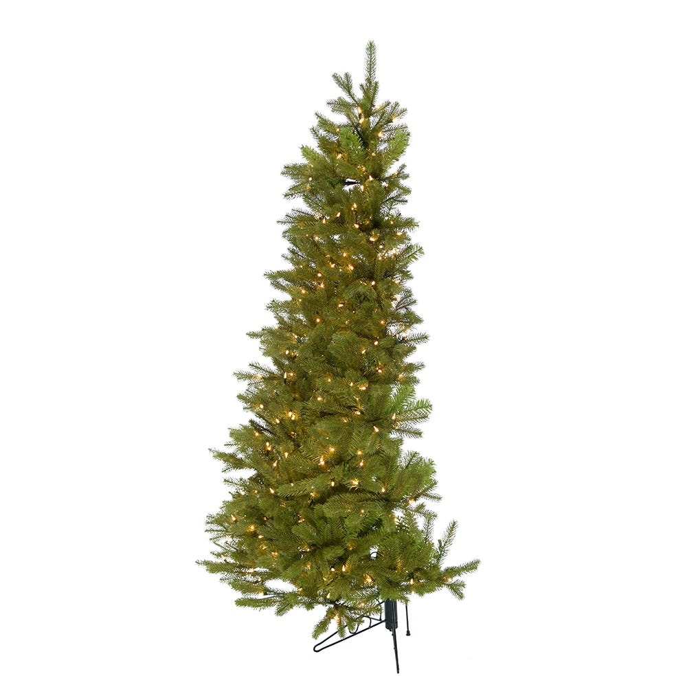 Kurt Adler 6-Foot Pre-Lit PE Half Tree with Stand