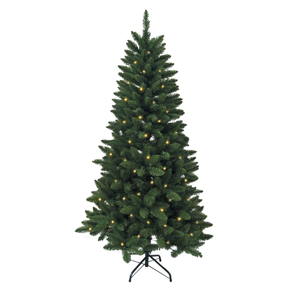 Kurt Adler 6-Foot Pre-Lit LED Green Pine Tree