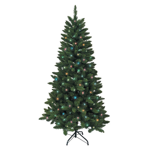 Kurt Adler 6-Foot Pre-Lit Multi LED Green Pine Tree