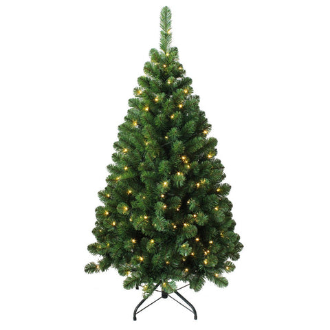 Kurt Adler 4.5-Foot Pre-Lit LED Green Pine Christmas Tree