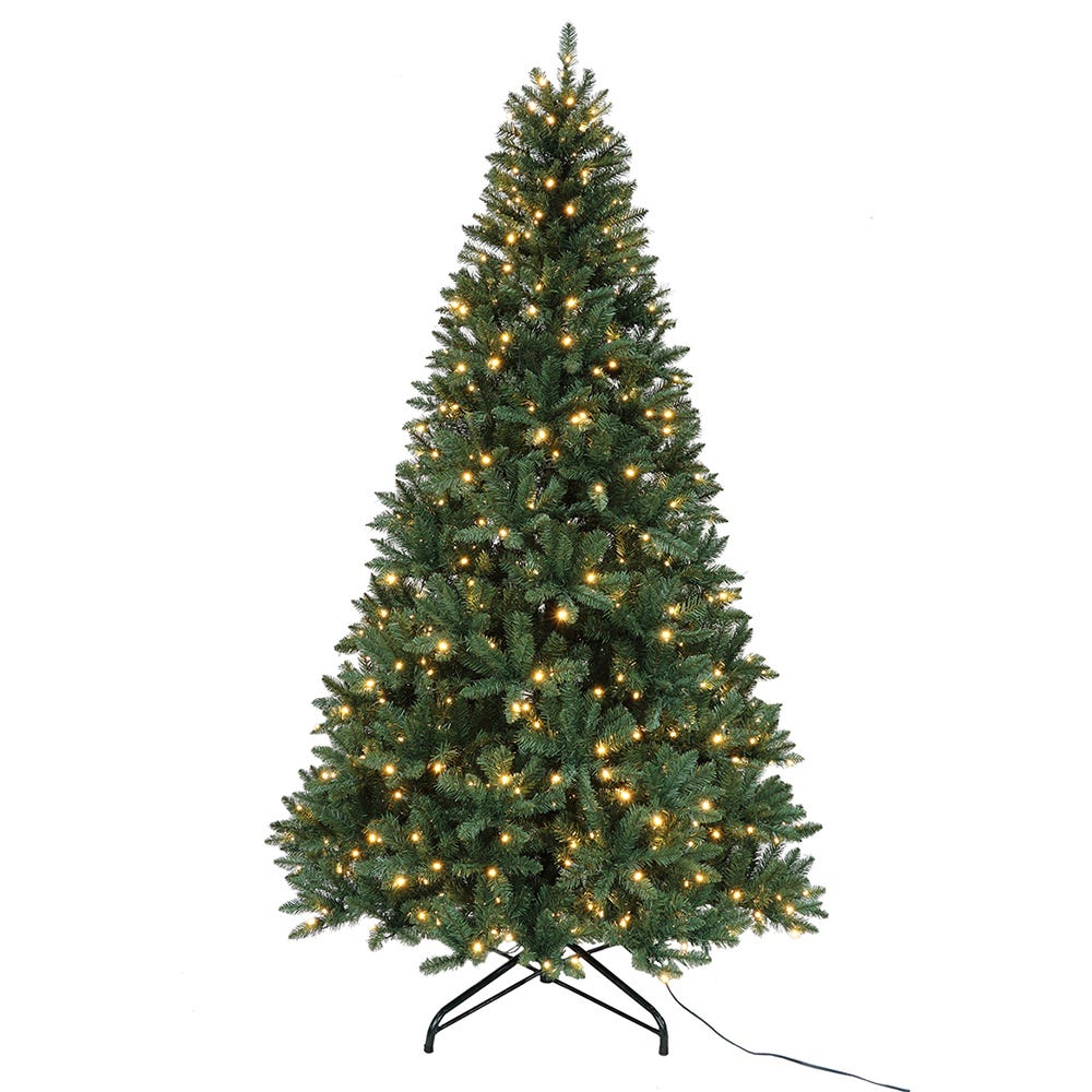 Kurt Adler 9-Foot Pre-Lit Warm White LED Pine Tree
