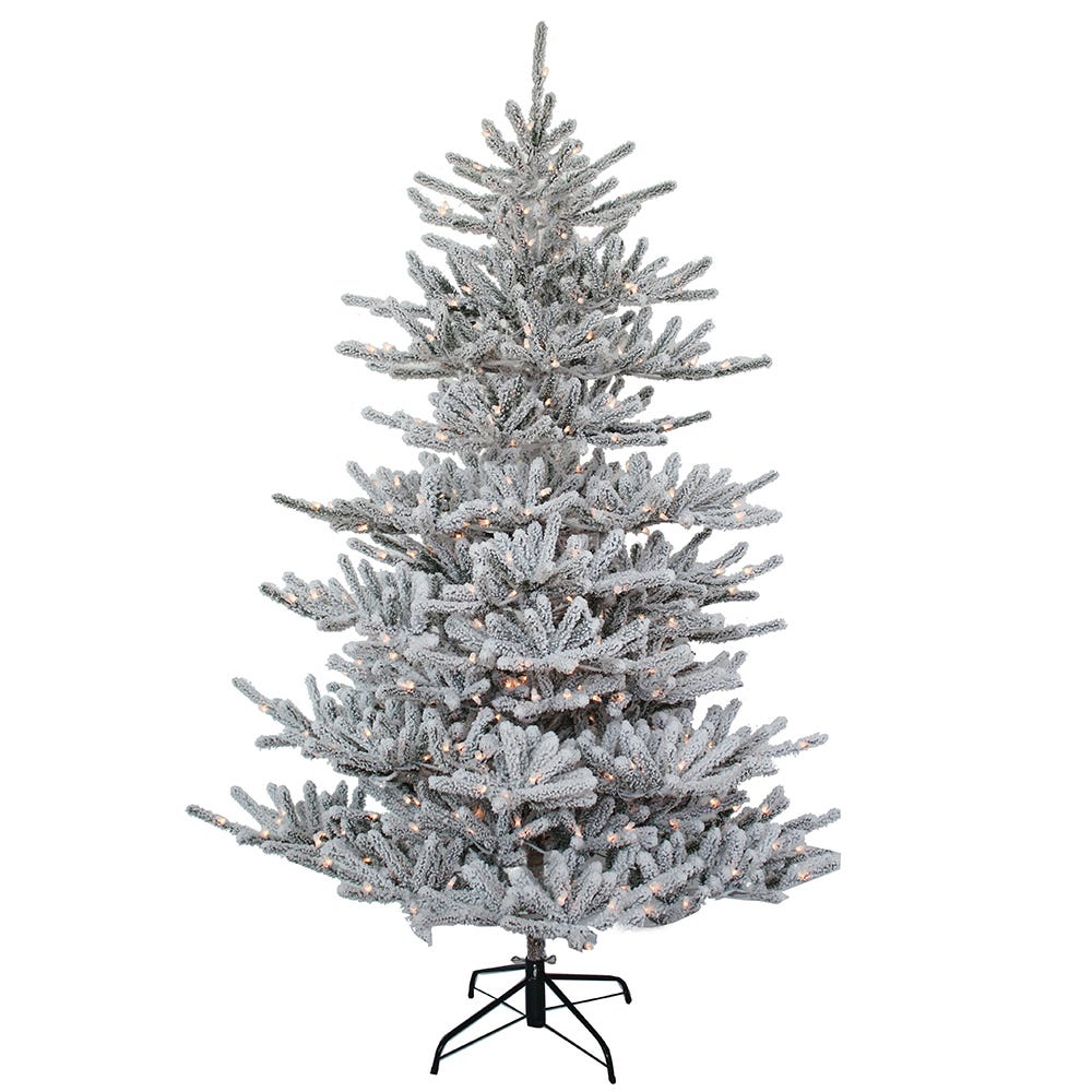 Kurt Adler 7-Foot Pre-Lit Flocked Pine Tree
