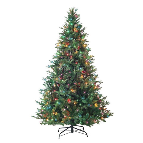 Kurt Adler 7-Foot Pre-Lit Multi-Color Incandescent Jackson Pine Tree
