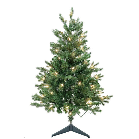 Kurt Adler 3-Foot Pre-Lit Clear Incandescent Jackson Pine Tree