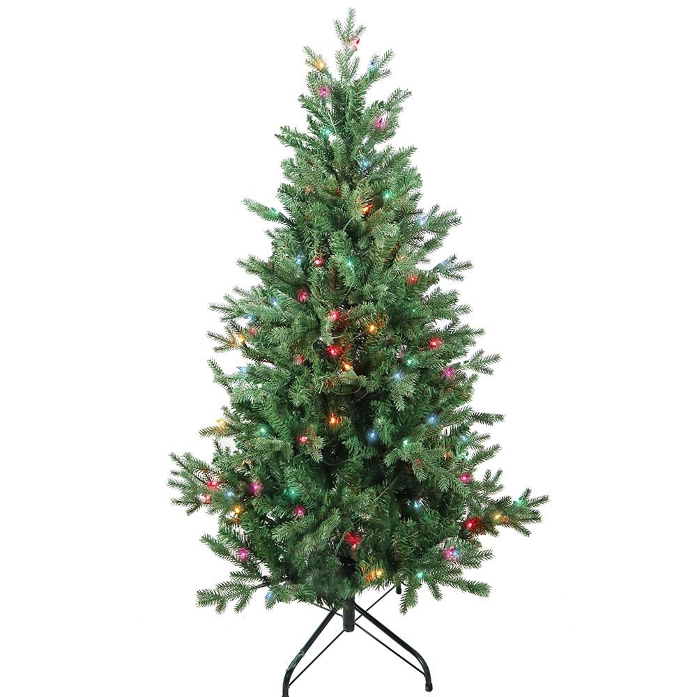 Kurt Adler 4.5-Foot Pre-Lit Multi-Color Incandescent Jackson Pine Tree