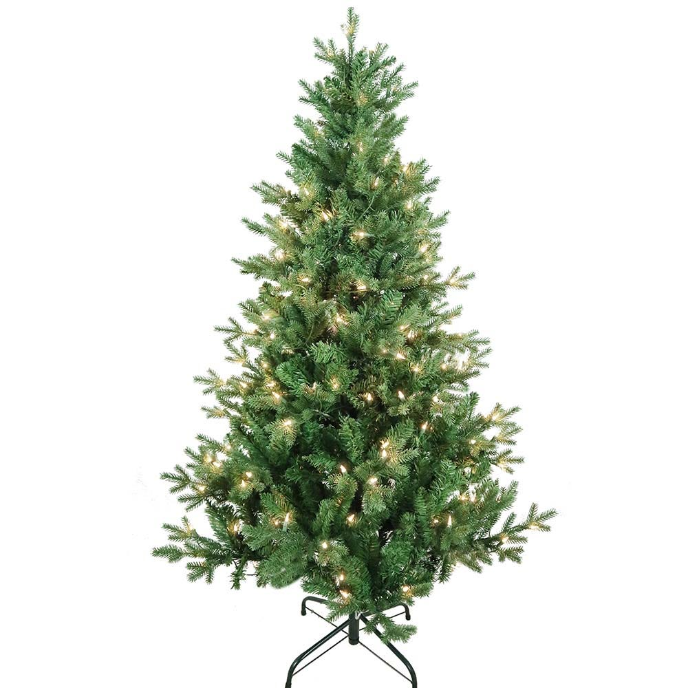 Kurt Adler 5-Foot Pre-Lit Clear Incandescent Jackson Pine Tree