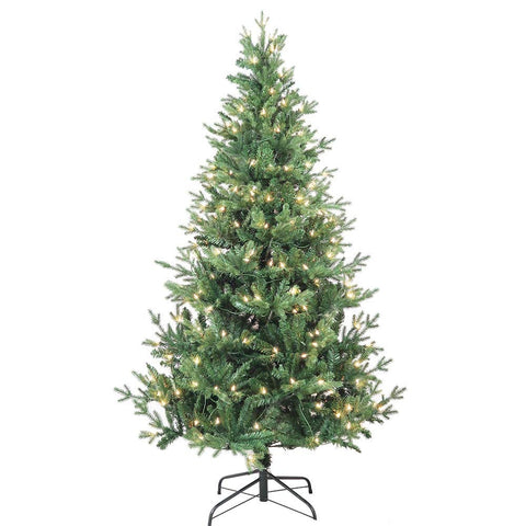 Kurt Adler 6-Foot Pre-Lit Clear Incandescent Jackson Pine Tree
