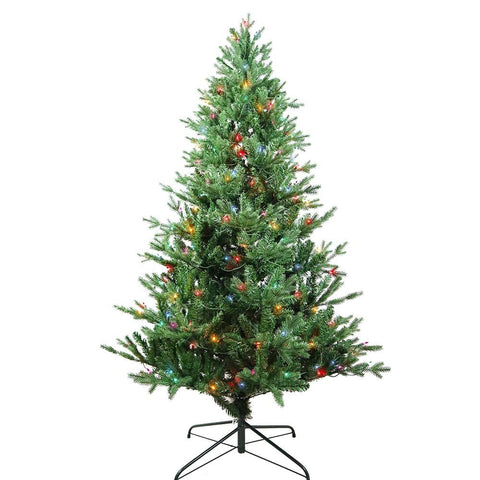 Kurt Adler 6-Foot Pre-Lit Multi-Color Incandescent Jackson Pine Tree