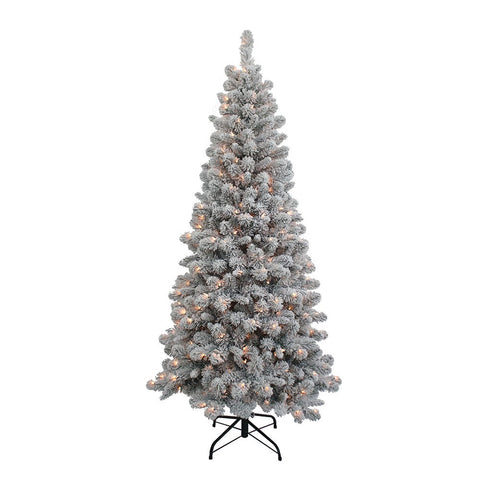 Kurt Adler 6-Foot Pre-Lit Clear New Brunswick Tree