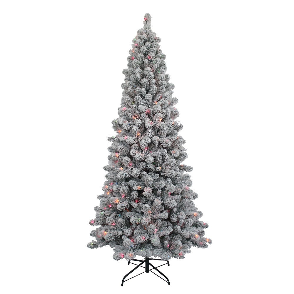 Kurt Adler 7-Foot Pre-Lit Multi-Color New Brunswick Tree