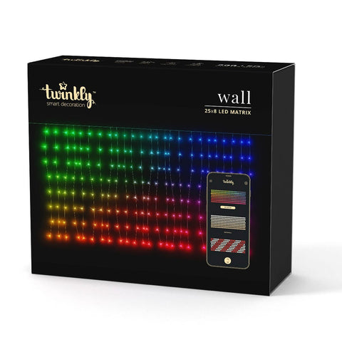 Kurt Adler Twinkly™ LED 25-Drop 200-Light Icicle App Controlled Light Set