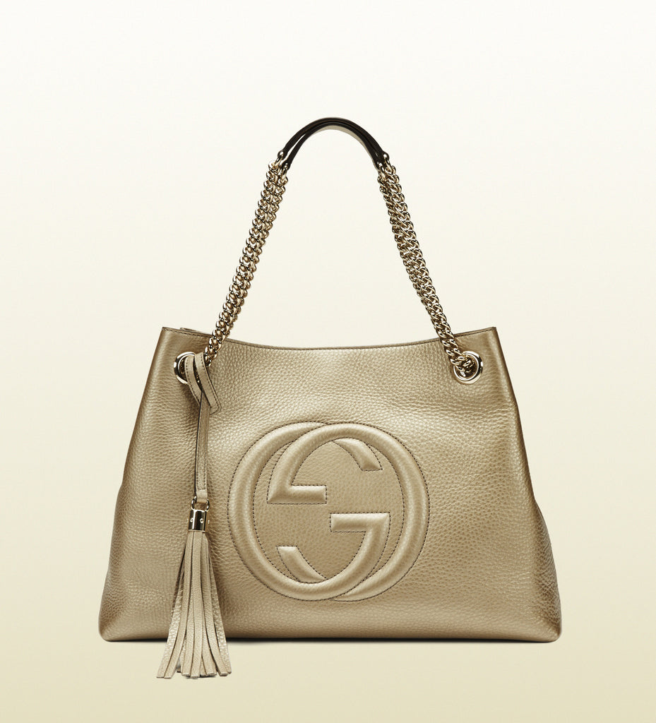 9f241d1319b Gucci - soho tote with double chain straps - 308982AH90G9504 – vommer