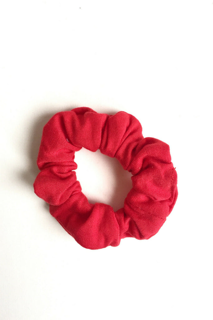 women's yoga scrunchie red