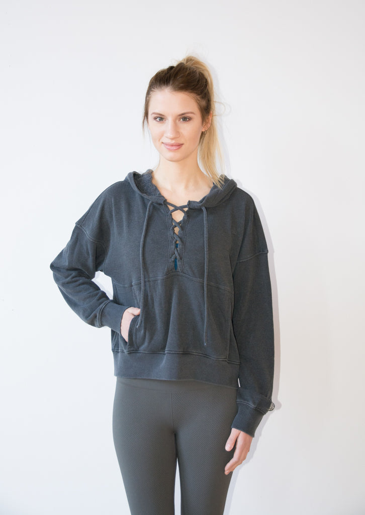 Women's Free People grey hoodie