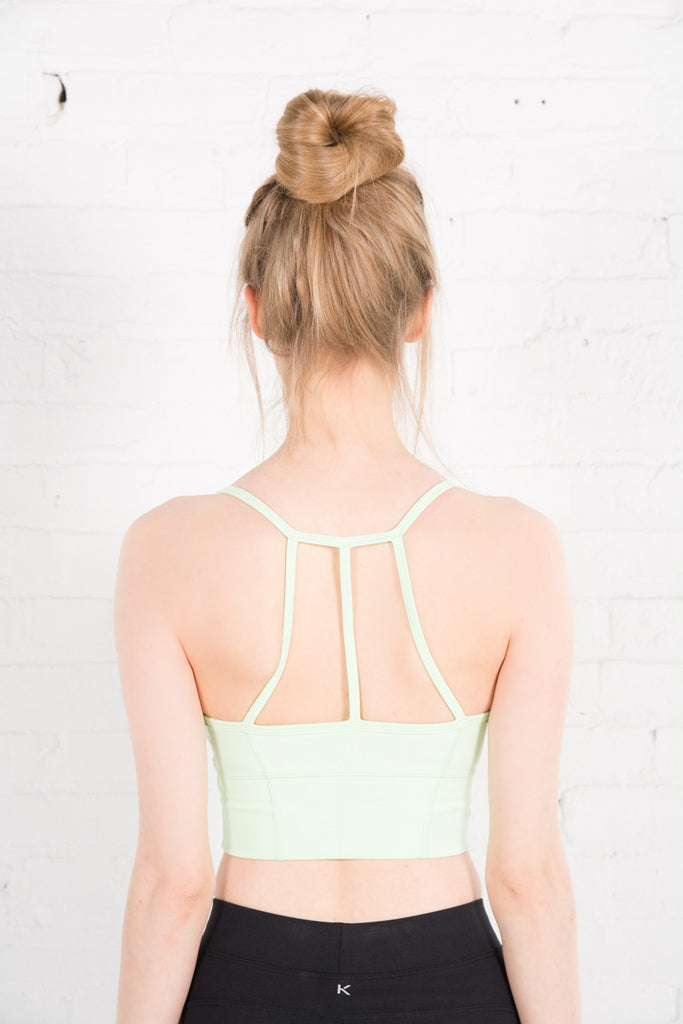 Women's Tonic Green Crop Top Activewear