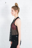 Women's Koral mesh black yoga tank