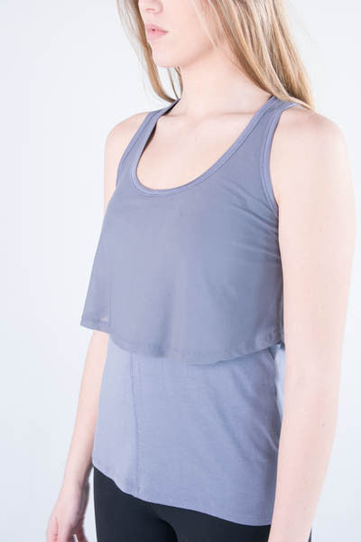 Daniela Relaxed Fit Double Layer Tank - 1 L LEFT!