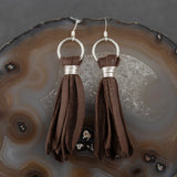 Deer Tassel Earrings - Brown, Steel Magnolia Jewelry