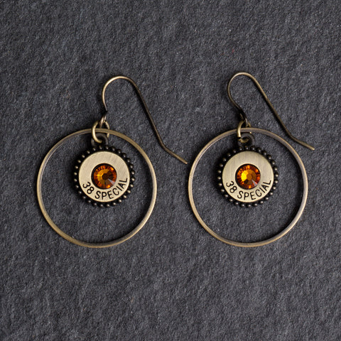 Southern Charm Earrings Gold/Topaz Crystals