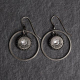 Steel Magnolia Southern charm Earrings silver/diamond crystal