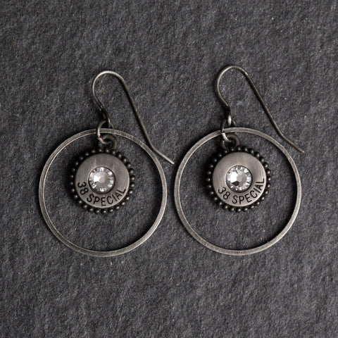 Southern Charm Earrings Silver/Diamond Crystals w