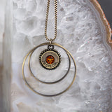Southern Charm Gold/Topaz Crystal Necklace